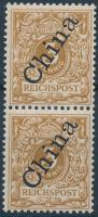 Kína 1898 Mi 1 IIb pár / pair. Signed: Hoffmann