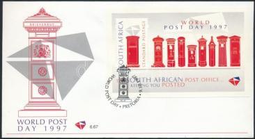 World Post Day block, A Posta világnapja blokk FDC-n