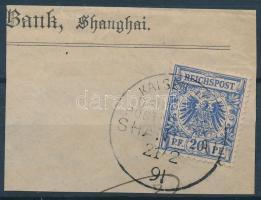 Kína 1891 Mi V 48b KDPAG SHANGHAI bélygzéssel