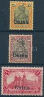 Kína 1901 Mi 19, 22, 24