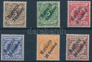 Marokkó 1899 Forgalmi sor Mi 1-6