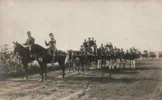 1909 Hungarian infantry officers, soldiers, photo, 1909 Magyar gyalogsági tisztek és honvédek; Schäffer Ármin fényképész