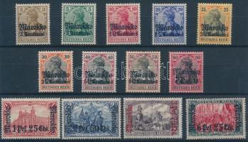 Marokkó 1906 Forgalmi sor Mi 34-45