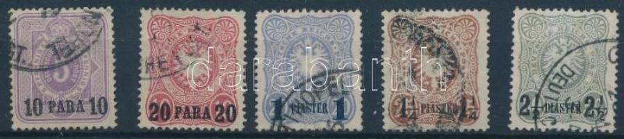 Törökország 1884 Forgalmi sor Mi 1-5