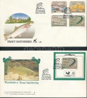 Fishes set + block on FDC, Halak sor FDC-n + blokk FDC-n