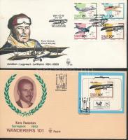 1989 75 éves a repülés sor FDC-n Mi 637-640 + blokk Mi 10