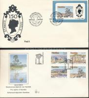 1990 Természet sor FDC-n Mi 671-674 + blokk FDC-n Mi 12
