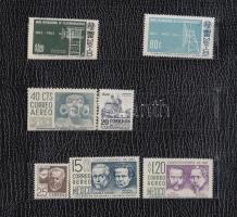 1950-1965 7 db bélyeg alkalmi tokban