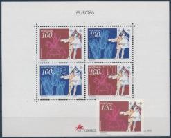 Europa CEPT discoveries and inventions stamp + block, Europa CEPT felfedezések és találmányok bélyeg + blokk