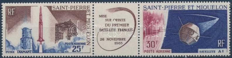 1st French satellite stripe of 3, Az első francia műhold hármascsík