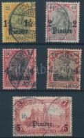 Törökország 1905 Mi 27, 29, 31 két színváltozatban, 32 A