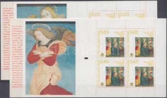 Christmas 2 diff. stamp-booklet, Karácsony 2 klf bélyegfüzet