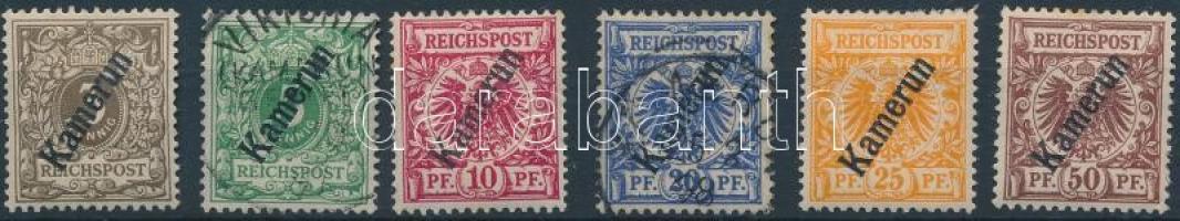 Kamerun 1897 Mi 1d*, 2, 3a*, 4, 5a*-6*