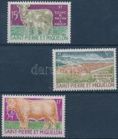 1970 Állattartás sor Mi 464-466 (465 falcos)