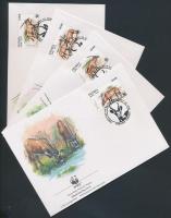 WWF antilopok sor 4 FDC WWF antelopes set on 4 FDC