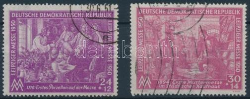 1950 Lipcsei vásár sor Mi 248-249