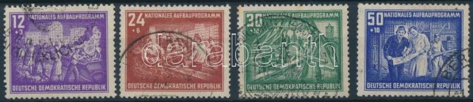 1952 Nemzeti fejlesztési program sor Mi 303-306