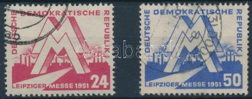 1951 Lipcsei vásár sor Mi 282-283