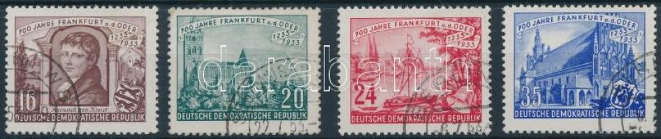 1953 700 éves Frankfurt sor Mi 358-361