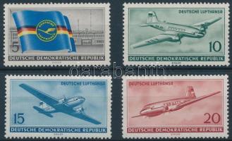 1956 A polgári légi közlekedés megnyitása az NDK-ban sor Mi 512-515