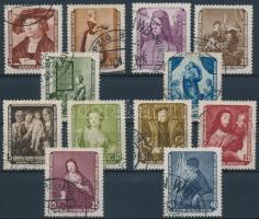 1955 Festmények (I-II.) sor Mi 504-509, 586-591
