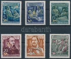 1955 Friedrich Engels halának 60. évfordulója sor Mi 485-490