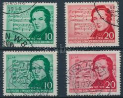 1956 Schumann halálának 100. évfordulója sor Mi 528-529 + 541-542