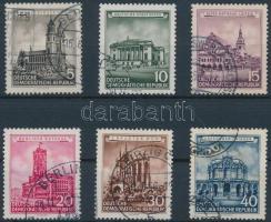 1956 Felújított történelmi épületek sor Mi 491-496