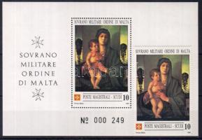 1990 Karácsony Madonna festmény 1é+blokk