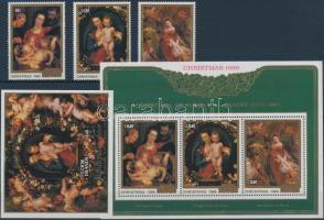1986 Rubens festmények sor Mi 1125-1127 + blokksor Mi 172-173