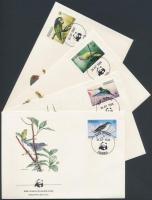 1984 WWF madarak sor Mi 836-839 4 FDC
