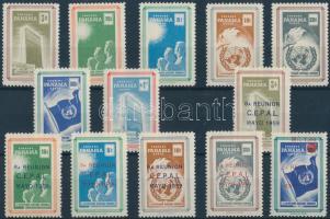 UNO set + overprinted version, ENSZ sor + felülnyomott változat
