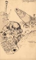 Der Feldpostbrief 6. / German military, humour s: K. Pommerhanz, Humoros német katonai lap s: K. Pommerhanz