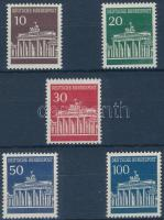 1966/1967 Brandenburgi kapu sor Mi 506-510