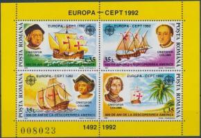 Europa CEPT America block, Europa CEPT - Amerika felfedezésének 500. évfordulója blokk