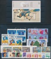 1987-1989 32 db bélyeg, közte teljes sorok és összefüggések + 1 db blokk, 2 db blokk