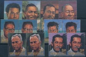 1993-1994 Személyiségek 2 db összefüggésekben Mi 298-301 + 397-400