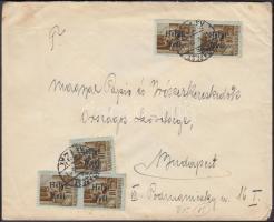 1946 (15. díjszabás) Helyi levél Betűs III 5x Helyi levél/10f bérmentesítéssel