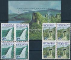 1993 Turizmus sor 4-es tömbökben Mi 310-311 + blokk 12