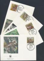 1988 WWF kisméretű macskafélék sor Mi 1734-1737 4 FDC