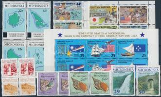 1986-1993 26 db bélyeg, közte teljes sorok, összefüggések és ívszéli értékek