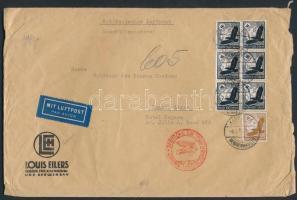 1936 Légi levél Argentínába 6,25 RM bérmentesítéssel