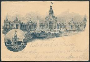 1896 Nürnbergi kiállítás hivatalos képeslapja alkalmi bélyegzéssel