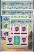 Diana és Károly herceg esküvője sor és kisívsor Prince Charles and Diana's wedding set mini sheet set