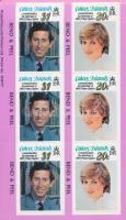 Prince Charles and Diana's wedding stamp-booklet Diana és Károly herceg esküvője bélyegfüzet