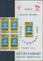 1967 Cserkész világtalálkozó, Idaho vágott 4-es tömb Mi 122 B + blokk 10 B
