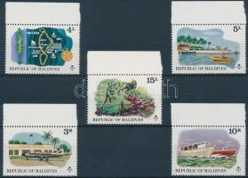 1975 Turizmus ívszéli sor Mi 622-627