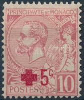 1914 Vöröskereszt felülnyomott bélyeg Mi 26