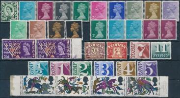 1958-1975 31 db bélyeg és egy hatoscsík