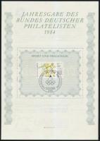1984 Sport és filatélia emléklap